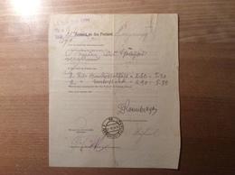 Österreich 1916 Postformular Nachforschung Paket Langenegg Vorarlberg > Teplitz-Schönau  (BRIEF - 1850-1918 Imperium