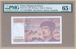 France 20 Francs 1997  P151i  PMG65  UNC - 1962-1997 ''Francs''