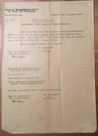 Österreich 1932 Postformular Verfügung GRAF ZEPPELIN SÜDAMERIKAFAHRT Innsbruck > Langenegg Vorarlberg  (BRIEF - Briefe U. Dokumente