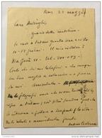 AUTOGRAFO ANTONIO CEDERNA ---- Antonio Cederna (Milano, 27 Ottobre 1921[1] – Sondrio, 27 Agosto 1996[1]) è Stato Un Gior - Handtekening