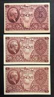 5 Lire Atena Elmata 1944 Serie Delle 3 Emissioni Spl/q.fds Lotto 466 - Italia – 5 Lire