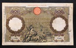 100 Lire Roma Guerriera Fascio Roma 13 03 1937 BEL BIGLIETTO Naturale LOTTO 529 - [ 1] …-1946 : Kingdom