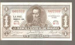 Billet, Bolivie, 1 Boliviano, 1928-07-20 - Bolivie