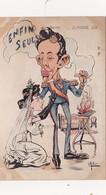 CPA ESPAGNE Le Mariage D' Alphonse XIII Anti-clérical Bible Brûlée Monarque Caricature Satirique Illustarteur E. MULLER - Personnages