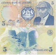 Lesotho - 5 Maloti 1989 UNC Lemberg-Zp - Lesotho