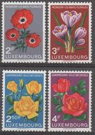 Luxembourg 1956 Flowers, MNH ** Mi 547/550 (Ref: 1436) - Unused Stamps