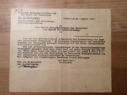 Österreich 1935 Postformular VERBOTENE BÜCHER POST-ZENSUR   (Innsbruck Langenegg Vorarlberg BRIEF - 1918-1945 1. Republik