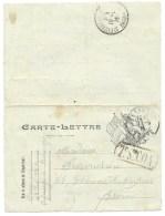 CARTE LETTRE  EN FRANCHISE MILITAIRE  /  42° INFANTERIE 33° COMPAGNIE BESANCONPOUR ST ETIENNE LES OUILLERES / 1915 - Postmark Collection (Covers)