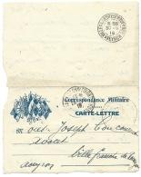 CARTE LETTRE  EN FRANCHISE MILITAIRE  / TARASCON POUR VILLEFRANCHE / 1916 - Marcophilie (Lettres)