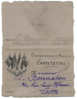 CARTE LETTRE  EN FRANCHISE MILITAIRE / TRESOR ET POSTES / 1915 / LYON / 299° D'INFANTERIE TELEPHONISTE CHR - 1. Weltkrieg 1914-1918