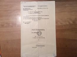 Österreich 1935 Postformular NSDAP DECKADRESSEN POST-ZENSUR   (Innsbruck Langenegg Vorarlberg BRIEF - 1918-1945 1. Republik