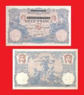 TUNISIA 1000 FRANCS 1942 - Copy  -- Copy - Copy- Replica - REPRODUCTIONS - Tunesien