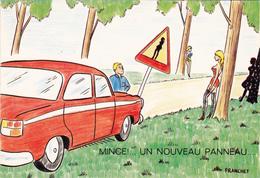 CPSM Panneau Code De La Route Pin-up Prostituée Prostitution Tapineuse Humour Illustrateur FRANCHET - Andere Illustrators