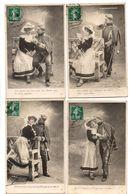 """COUPLE . """" LE RETOUR DU CONSCRIT """" . 5 CARTES POSTALES . MILITARIA - Réf. N°18521 - - Hommes"""