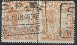 8Nz-964: C.P.B /-3 JUIN 1920 / WERVICK : Vertikaal. Paar N° TR114: - Spoorwegen