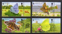 GUERNSEY - 1997 WWF ENDANGERED SPECIES BUTTERFLIES & MOTHS COMPLETE SET(4V) WITH COMPOSITE MARGIN SG 730-733 FINE MNH ** - Butterflies