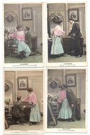 """COUPLE . """" L'ACCORDEUR """" . 5 CARTES POSTALES - Réf. N°18523 - - Hommes"""