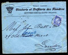 A5310) Belgien Belgium Firmenbrief Gentbrugge 11.11.1901 N. London / UK - 1893-1900 Schmaler Bart