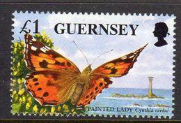 GUERNSEY - 1997 ENDANGERED SPECIES £1 BUTTERFLY STAMP EX SG MS734 FINE MNH ** - Guernsey