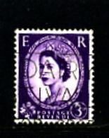 GREAT BRITAIN - 1960  QE II  PHOSPHOR  3 D  LEFT BAND  FINE USED - Usati