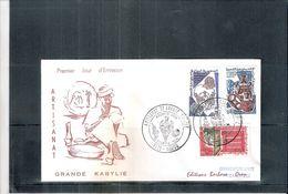 Artisanat De La Grande Kabylie - FDC D'Algérie 1966 - Série Complète (à Voir) - Algeria (1962-...)