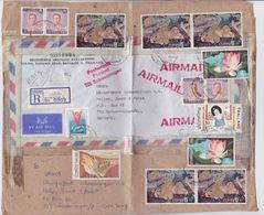 THAILAND 1973 REG.AIRMAIL PACKET ADDRESS FRANKING BANGKOK TO GERMANY - Thaïlande