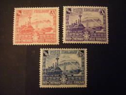 REGNO -1941,  Sass. N. 449/51, FERROVIE, L. Serie Cpl. MLH*, TTB - Nuevos