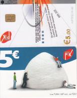 KOSOVO(chip) - PTK Telecard 5 Euro, Used - Kosovo