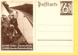 GERMANIA  REICH  -  HITLER 1936 1000 KM AUTOBAHN FERTIG  NON  VIAGGIATA - Allemagne