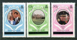 Caicos Islands 1981 Royal Wedding Set MNH (SG 8A-10A) - Turks And Caicos