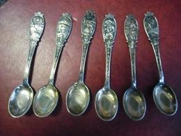 Superbe Collection 6 Petites Cuillères Poinçon 60 Grammes Argent ? Ciselée Ancien Et Non Servit NORVEGE Kongsberg Norge - Spoons