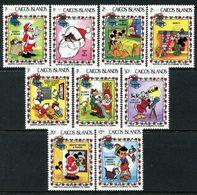 Caicos Islands 1983 Disney - Christmas Set MNH (SG 30-38) - Turks And Caicos