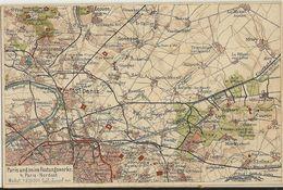 Paris Und Seine Festungswerke Carte Géographique  75 - Guerre 1914-18
