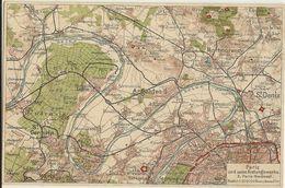 Paris Und Seine Festungswerke Carte Géographique  77 - Guerre 1914-18