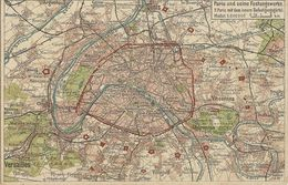 Paris Und Seine Festungswerke Carte Géographique  79 - Guerre 1914-18