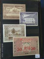 4 Notgeld Heller Vari Valori 1920  N. 213 - Austria