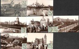 Exposition De Bruxelles 1910 - Lot 7 Cartes (timbre Caritas) - Universal Exhibitions