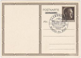 GERMANY 1939 (20.4.) P.ST.HITLER BIRTHDAY CARD P 278/02 PROPAGANDA PM SAARBRÜCKEN - Otros