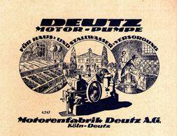 Original-Werbung/ Anzeige 1924 - MOTORENFABRIK DEUTZ AG - KÖLN- DEUTZ - Ca. 140 X 110 Mm - Publicités
