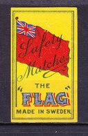 Schweden, Zuendholzschachteletikett, Fahne (49000) - Zündholzschachteletiketten