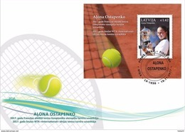 Latvia Lettland  2017.Tennis.Jelena Ostapenko - French Open Champion .s/s  FDC - Lettonie