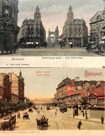 Budapest - Lot 2 Postcards (colored, Animation) - Hongrie