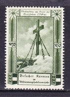 Vignette Werbemarke, Glocknerkreuz Am Gipfel Grossglockner, Kaernten 1930 (49001) - Vignetten (Erinnophilie)