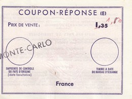REPLY COUPON REPONSE.   1.35/1.80  MONTE-CARLO   /  15 - Antwortscheine