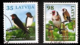2012 Latvia / Lettonie - Bird 2012 Swallow ; GOLDFINCH  USED (0)  Full Set - Latvia