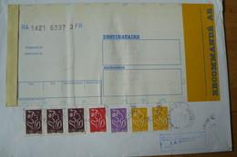 France - Lettre Recommandée Avec Griffe : Ne Pas Taxer - Yvert N° 3731 X2 - 3732 - 3744 - 3759 X3 - 2004-08 Marianne De Lamouche