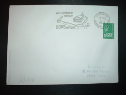 L. TP MARIANNE DE BEQUET 0,60 ROULETTE OBL.MEC.6-7 1976 17 SURGERES CHARENTE MARITIME VILLE HISTORIQUE EGLISE Du XIe - Marcophilie (Lettres)