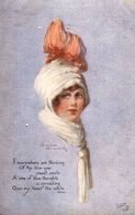 "Winifred Wimbush  -  A Winsome Lassie : ""I Everywhere Am Thinking Of Thy Blue Eyes"". - Tuck, Raphael"