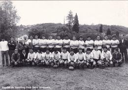 CPSM (09) SAINT GIRONS Sporting Club Saint Gironnais Sport Jeu Equipe De Rugby 1987 (2 Scans) - Rugby