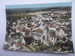 CPSM 77 - SEINE-ET-MARNE - SAINTS VUE GÉNÉRALE AÉRIENNE - France